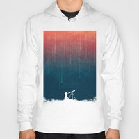 sky Hoodies featuring Meteor rain by Picomodi