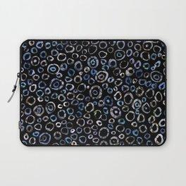 Circles Blue Charcoal Laptop Sleeve