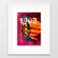 real madrid Framed Art Prints featuring Real Madrid C.F. - Los Merengues by Silvia Qian