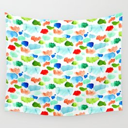 Watercolor Swatch Pattern Wall Tapestry