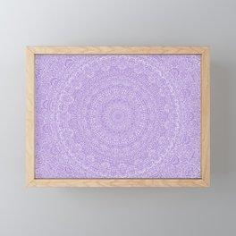 The Most Detailed Intricate Mandala (Violet Purple) Maze Zentangle Hand Drawn Popular Trending Framed Mini Art Print