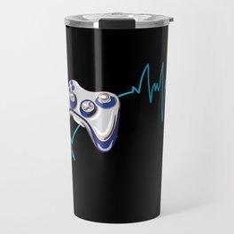 Gamer Heartbeat Travel Mug
