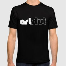ArtSlut Mens Fitted Tee Black MEDIUM