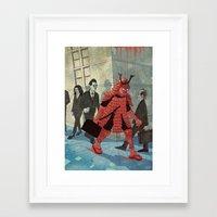 samurai Framed Art Prints featuring Samurai by edusá studio