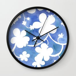 Flowers of snow Wall Clock
