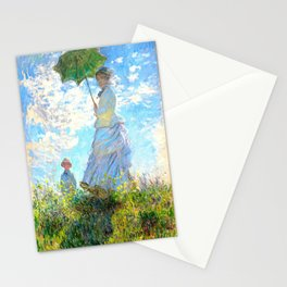 Monet : Woman with a Parasol Stationery Cards