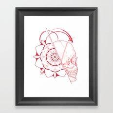 Mandala Skull Framed Art Print