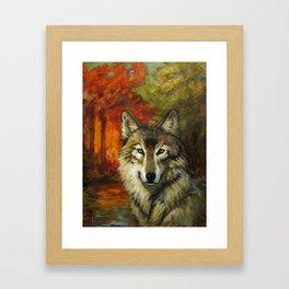 October Wolf Framed Art Print