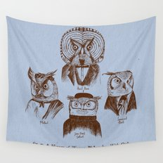 A History of Western Philosophy. With Owls. Wall Tapestry