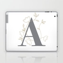 'A' Flower Illustration Laptop & iPad Skin