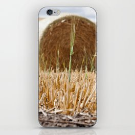 Wheat Bale Photography Print iPhone Skin