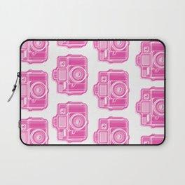 I Still Shoot Film Holga Logo - Pink Laptop Sleeve