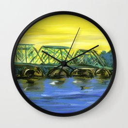 New Hope-Lambertville Bridge Wall Clock
