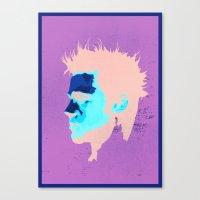 brad pitt Canvas Prints featuring Brad Pitt Digital illustration by Parveen Verma
