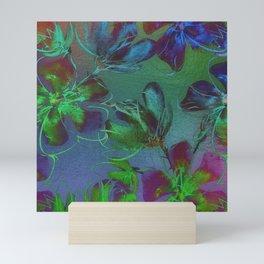 Jewel Toned Flowers Mini Art Print