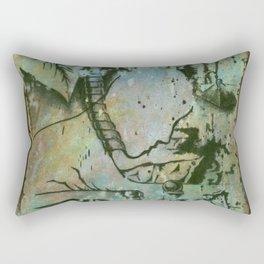 Private Language Decimated Rectangular Pillow