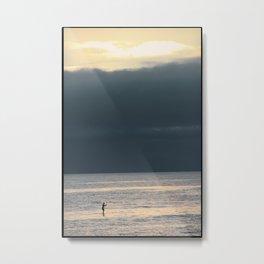 Lone Paddle Boarder Metal Print