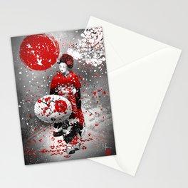 Sakura fubuki Stationery Cards
