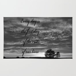 Forever Quote B&W Rug