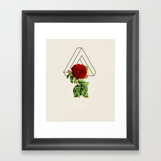 rose #society6 Framed Art Print