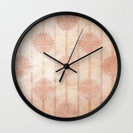 Wallflower Wall Clock