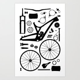 Bike Parts - Evil Art Print