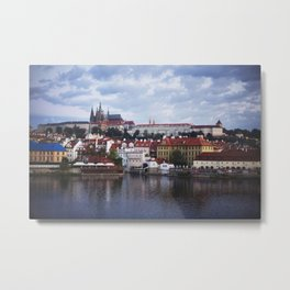 Sunrise Over the Prague Castle Metal Print