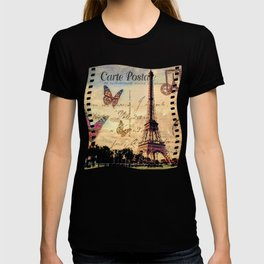 Vintage Paris-Carte Postale T-shirt