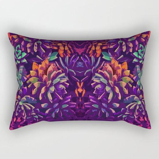 Cali Succulents 3 Rectangular Pillow
