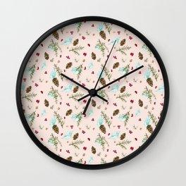 Blush Pink Holiday Wall Clock