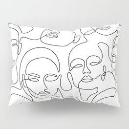 Crowded Girls Pillow Sham