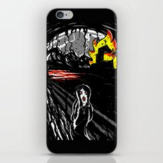 black scream iPhone & iPod Skin