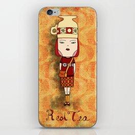 Red Tea Girl iPhone Skin