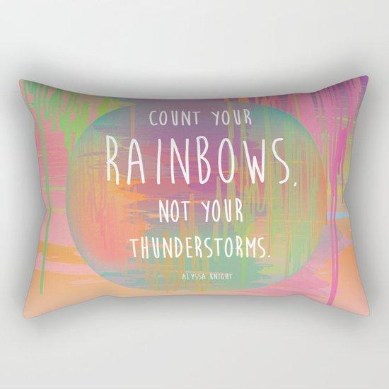 Count your Rainbows Rectangular Pillow