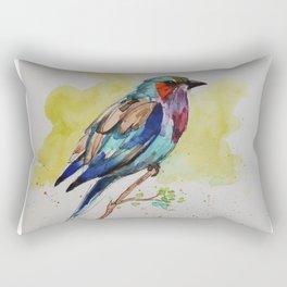 Lilac Bird - in watercolor Rectangular Pillow