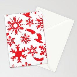 Snowbird Pattern Stationery Cards