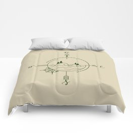 Finding Our Island - Beige Comforters