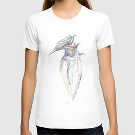 Kingfisher 1c. Color lines on white background-(Red eyes series) T-shirt