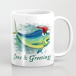 "Seas and Greetings ~ ""Mahi Mahi Splash"" by Amber Marine ~ Watercolor ~ (Copyright 2016) Coffee Mug"