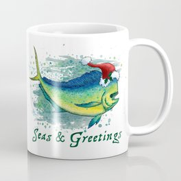 "Seas and Greetings ~ ""Mahi Mahi Splash"" by Amber Marine ~ Watercolor ~ (Copyright 2016) Coffee Mug"