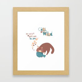 Call of the Wild cat Framed Art Print