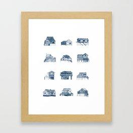 Houses of Lupus, Missouri Framed Art Print