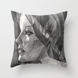 Romy Schneider Throw Pillow