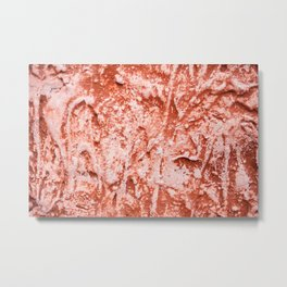 Old red brown paint wall texture abstract Metal Print