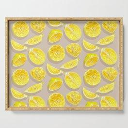 Lemon Slices Pattern Serving Tray