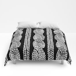 Cable Black Comforters