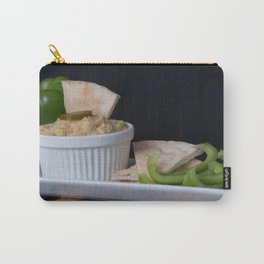 Hummus Pita Bread and Green Sweet Bell Peppers Carry-All Pouch