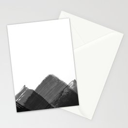 Minimalist Mountain Ink Art Print Stationery Cards