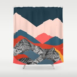 Graphic Mountains X Shower Curtain