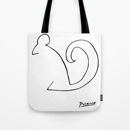 Pablo Picasso, The Squirrel, Artwork, Animals Line Sketch, Prints, Posters, Bags, Tshirts, Men, Wome Tote Bag